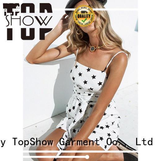TopShow denim mini dress bulk production for girls