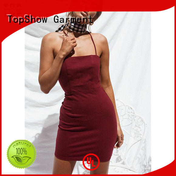 womens halter dress wrap daily wear TopShow