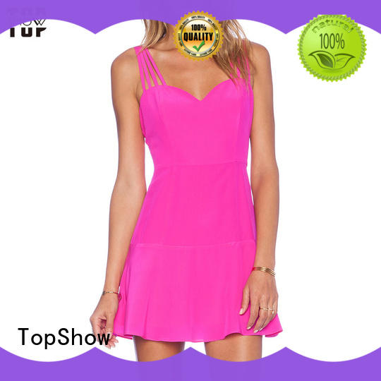 TopShow Oem quality womens halter dress backless for female