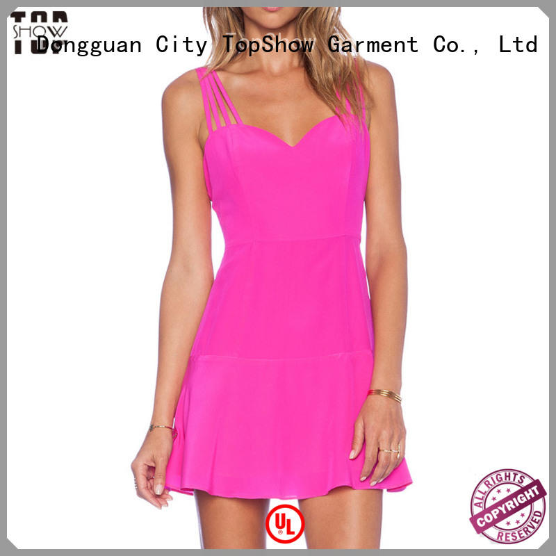 TopShow high-quality sexy pink mini dress factory price for shopping