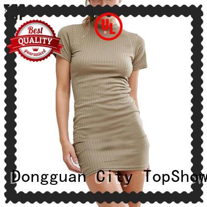 TopShow red beautiful short dresses bulk production street wear