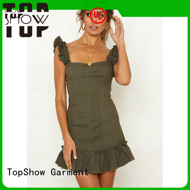 TopShow dazzling open back halter dress for ladies