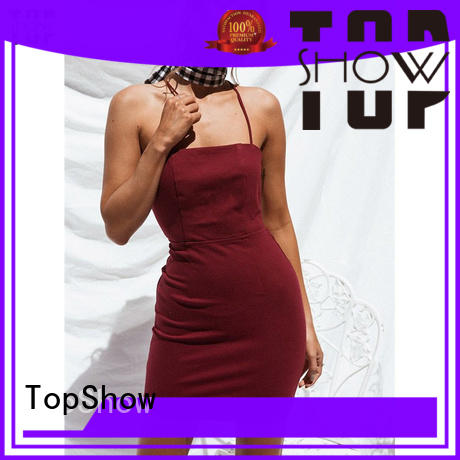 TopShow new-arrival open back halter dress for woman