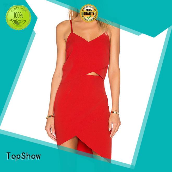 oem custom womens dresses cross street wear TopShow