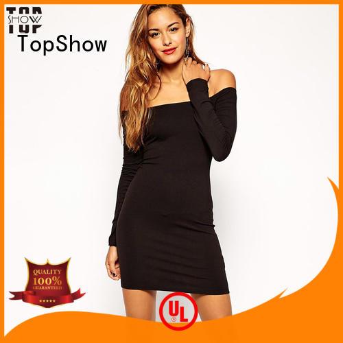 TopShow attractive v neck mini dress ladies for female