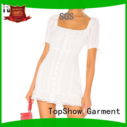 TopShow down lace mini dress factory price with good price