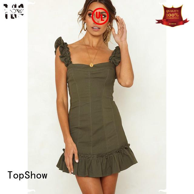 TopShow spaghetti custom womens dresses vendor for ladies