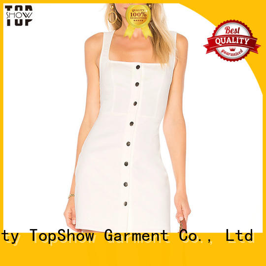 button off the shoulder mini dress producer with good price TopShow