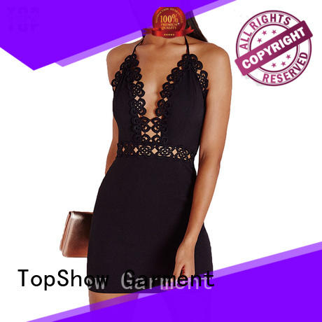 TopShow perfectly matching v neck halter dress check now for business trip