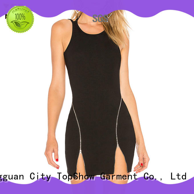 TopShow side spring bodycon dresses manufacturer for woman