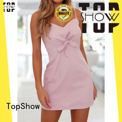 v neck mini dress TopShow
