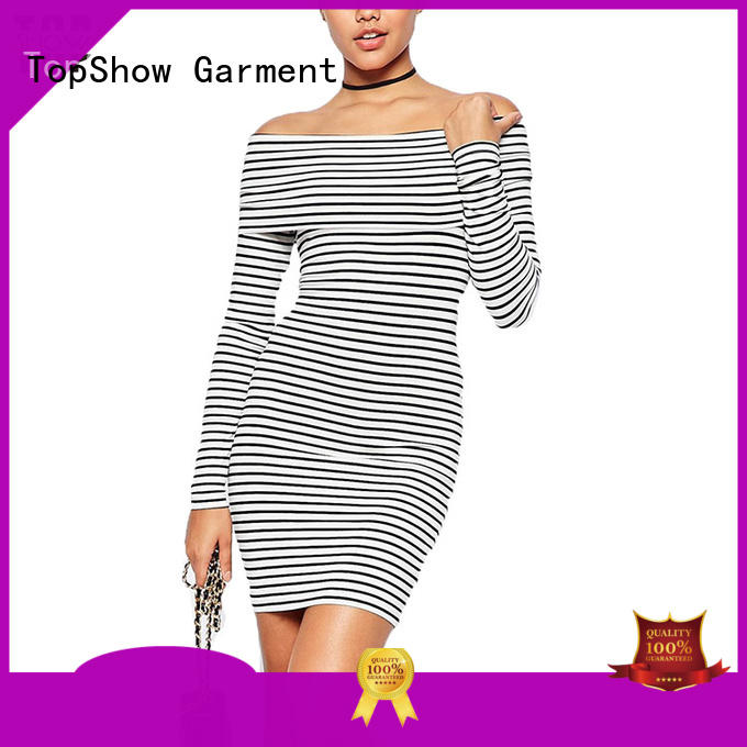 tiered black and white mini dress front for cosmetics TopShow