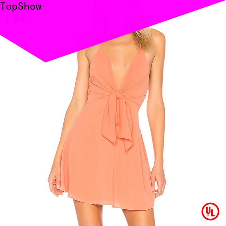 TopShow pink mini dress manufacturer for woman