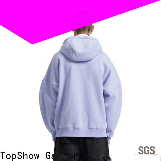 TopShow trendy mens hoodies manufacturer factory price