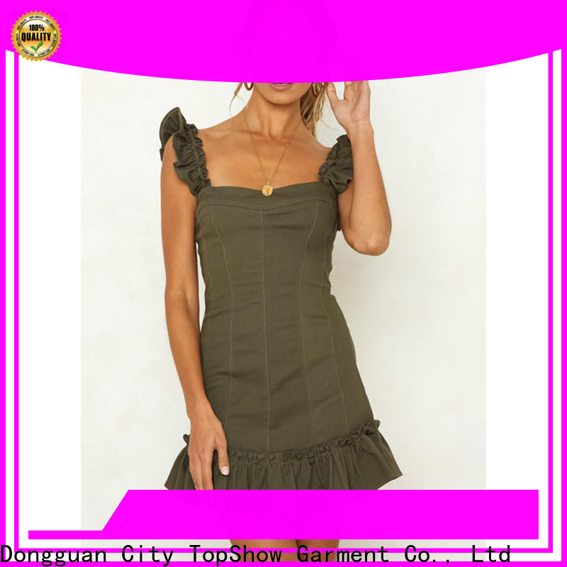 TopShow pink long sleeve dress bulk production for woman