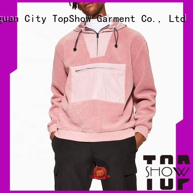 TopShow casual hoodies mens manufacturers for travel