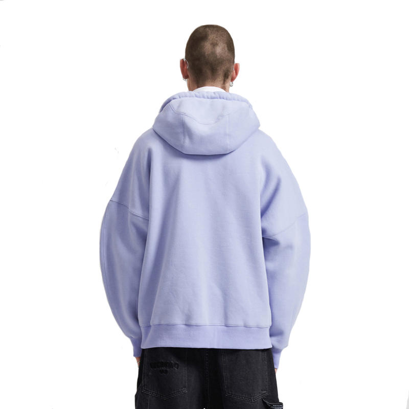 China Supplier Blank Oversized Heavy Weight 400gsm Cotton Embossed Hoodie For Men