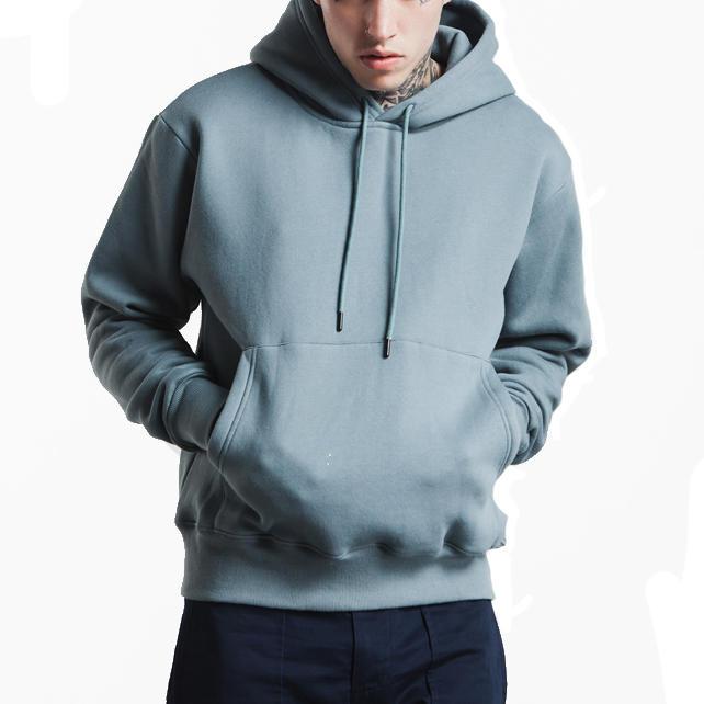 Custom Men'S Drop Shoulder Fleece Blank Oversized Popular Men'S Hoodies