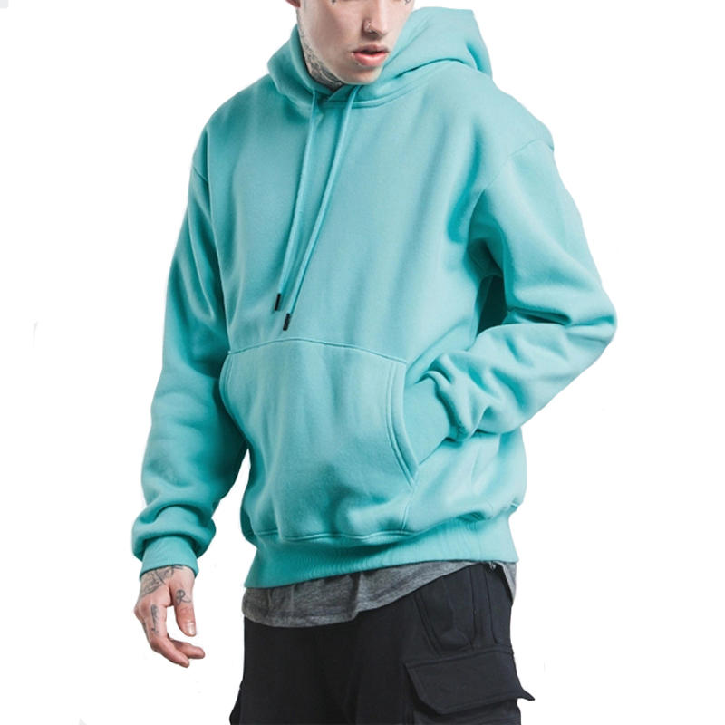 Custom Men'S Drop Shoulder Fleece Blank Oversized Popular Men'S Hoodies