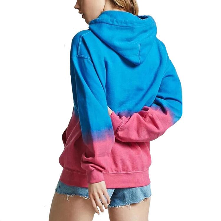 Guangzhou clothing factory women fashion custom tie dye fleece hoodie