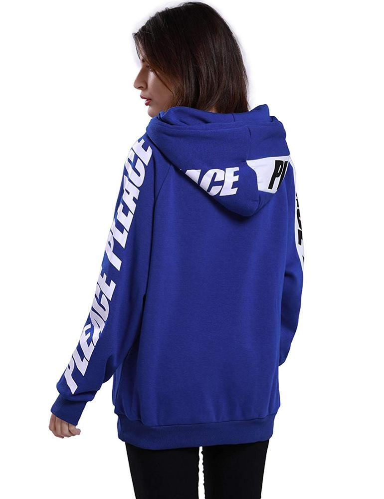TopShow colorful ladies thick hoodies for girls