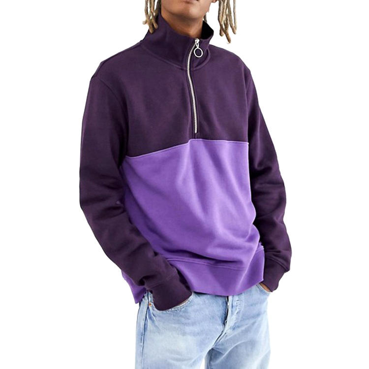 OEM Wholesale Hoodie 2019 Latest Color Block Sweatshirt Hoodie Streetwear