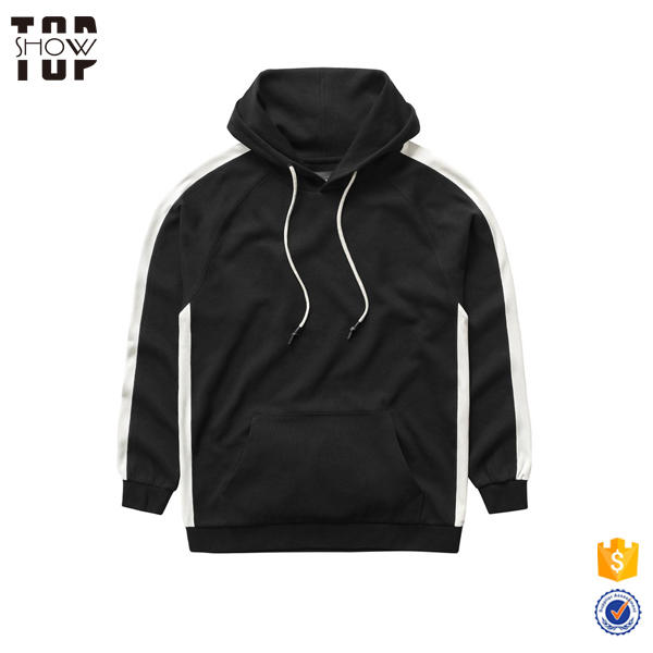 OEM Wholesale Fashion Long Sleeve Black Male Hoodies