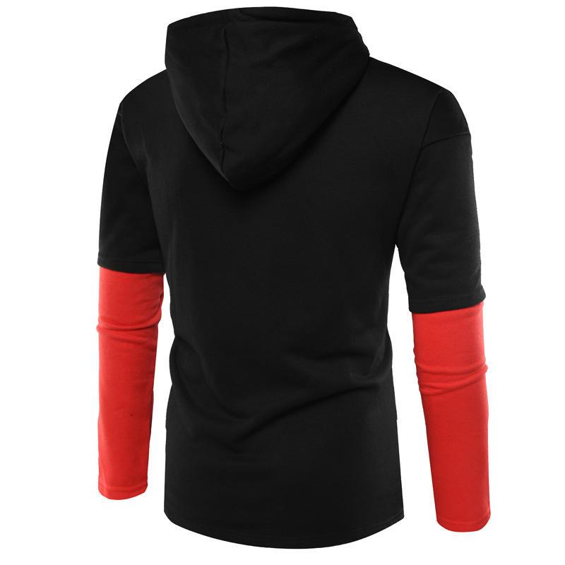 Custom street wear two tone hoodie with contrast hood and half zip