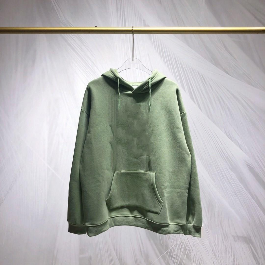 Custom logo men oversized hoodies drop shoulder hoodies in washed green