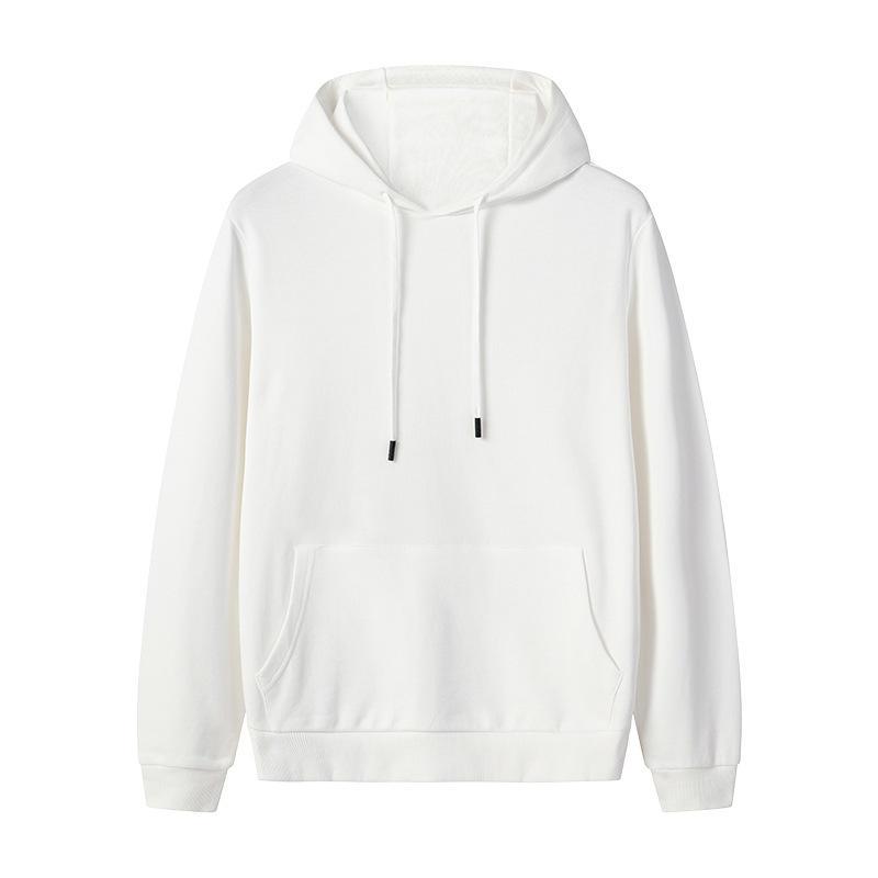 Trend 2019 Fashion Men Pullover 100% Cotton Blank White Track Popular Men's Hoodies