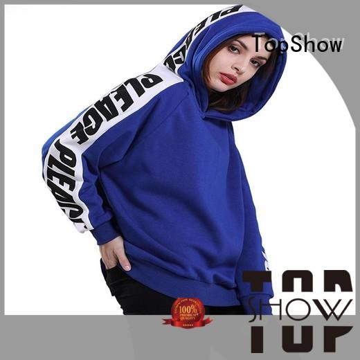 TopShow new popular womens hoodies manufacturer for ladies