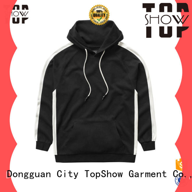 TopShow Wholesale plain zip up hoodie company party wear