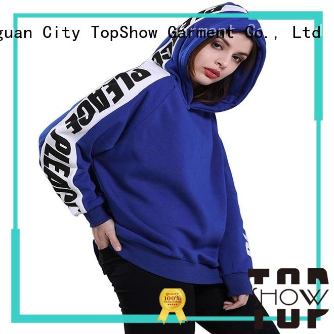 TopShow female hoodies manufacturers for business trip