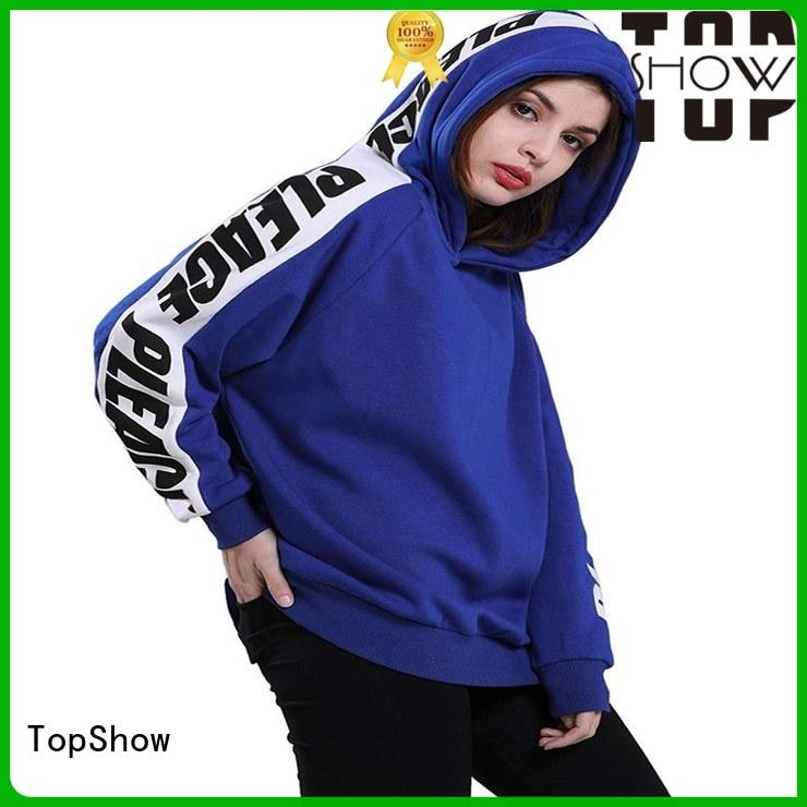 TopShow Latest cotton hoodies womens manufacturers for travel