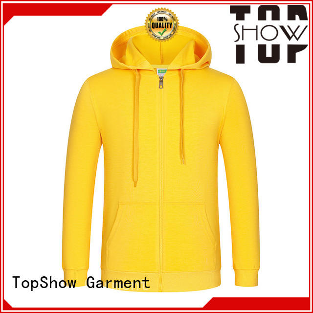 TopShow fashion plain zip up hoodie manufacturers street wear