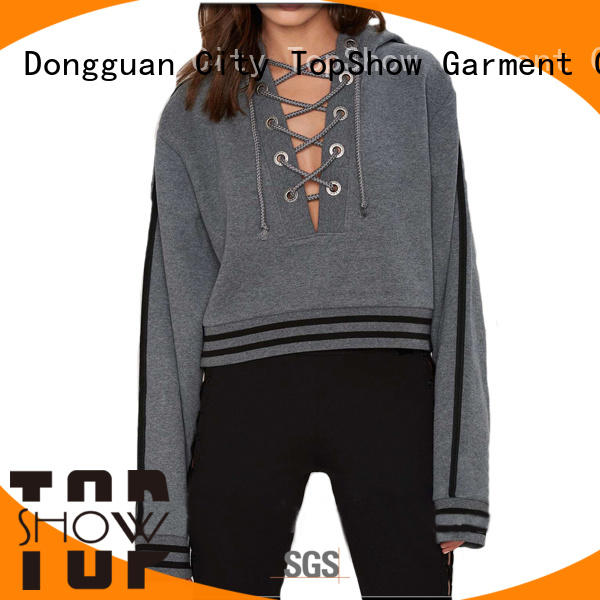 TopShow colorful women's pullover hoodies with good price