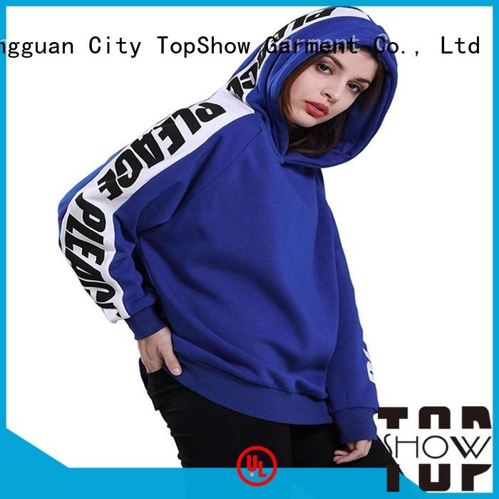 TopShow colorful winter hoodies for ladies manufacturer factory price