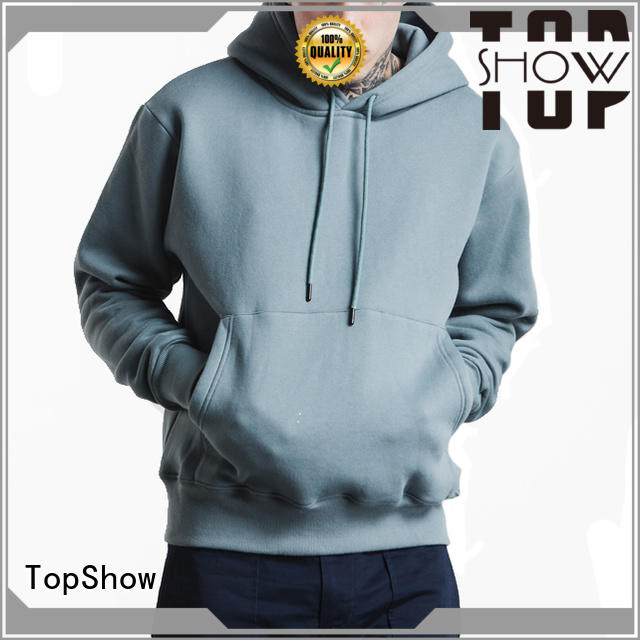 TopShow trendy mens hoodies manufacturer with good price