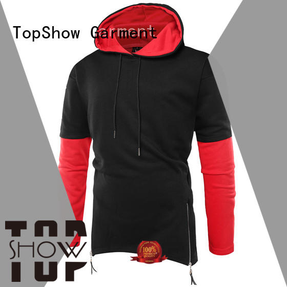 TopShow cool plain zip up hoodie factory daily wear