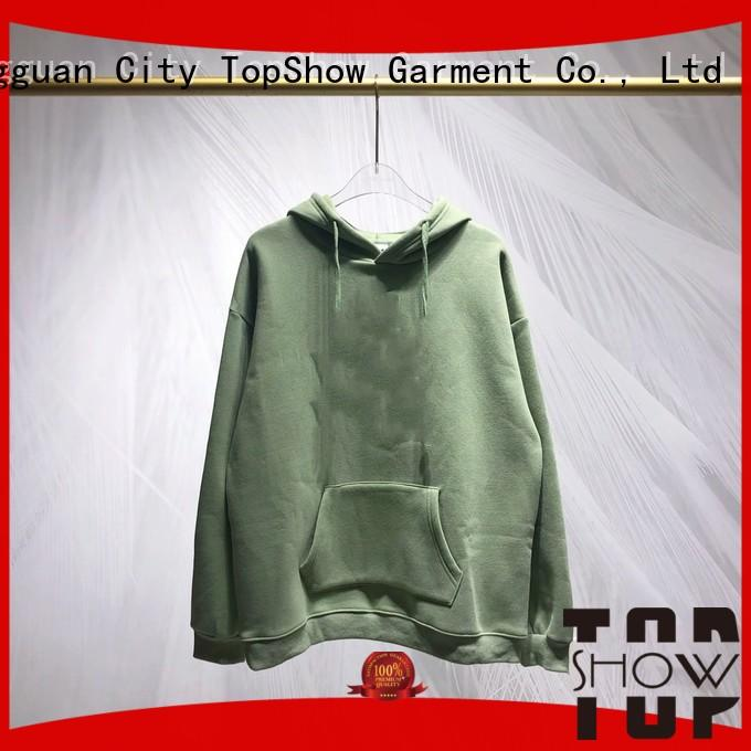 TopShow cool sweatshirt without hood supply for cosmetics